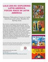New Spring 2019 LALS Course Offered (LALS 200-50)