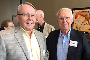 From left, Grover Potts (1969) and Walt Swyers (1971)
