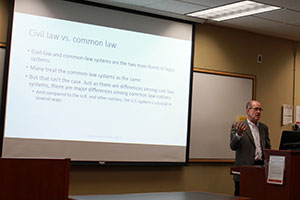 Professor John Cross explains the differences between civil law and criminal law.