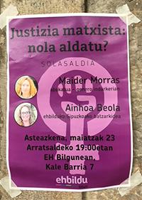 Poster in Mondragon