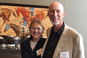 Martha Schecter and Murray Klein, both of the Class of 1970