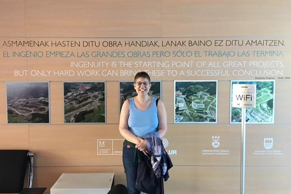 Ariana Levinson in the lobby of Saiolan