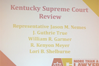 Annual Kentucky Supreme Court Review at the KBA Convention