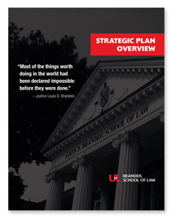 Image: Cover of Brandeis School of Law Strategic Plan overview