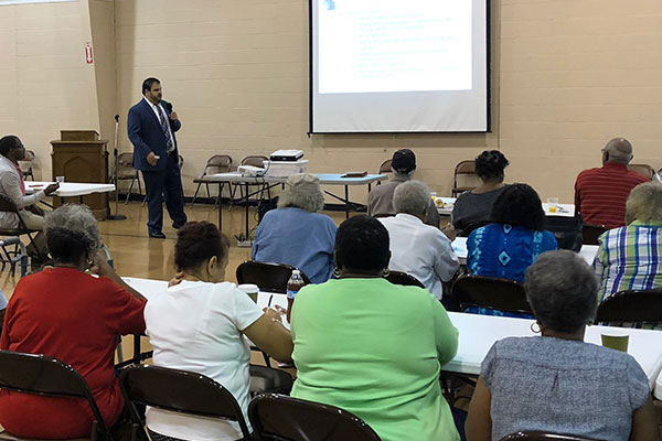 Community members attended the Elder Law Symposium.