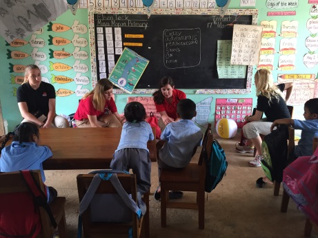 A handful of Brandeis students spent their Spring Break in Belize, along with Dean Susan Duncan, to work on restorative justice projects.