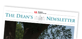 Photograph of Dean's Fall 2014 newsletter