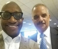 Cedric Merlin Powell attends Martin Luther King Jr. symposium as traveling scholar