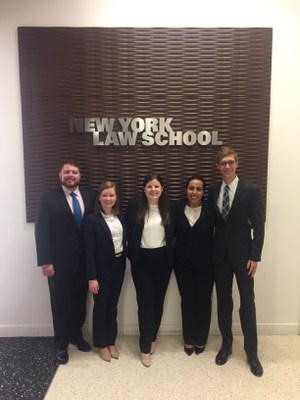 2018 Labor and Employment Law Moot Court team and coaches