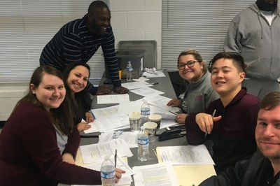 Louisville Law students volunteer at an expungement clinic on Oct. 26, 2019.