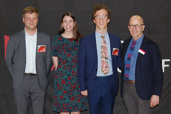 First in Class, from left: Kirk Mattingly – Second Year, Fall 2018 and First Year, Spring 2018; Elizabeth Penn – Third Year, Fall 2018 and Second Year, Spring 2018 Ryan Cannon – First Year, Fall 2018