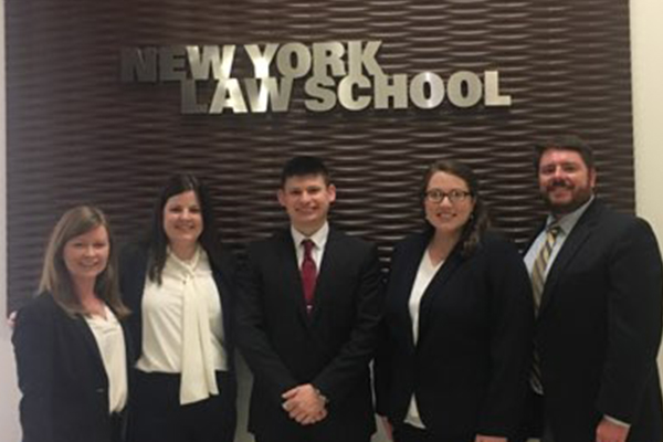 2019 Wagner Moot Court team and coaches