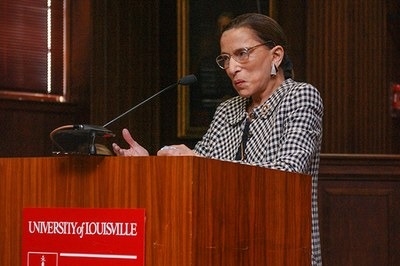 Ruth Bader Ginsburg accepts the 2003 Brandeis Medal.