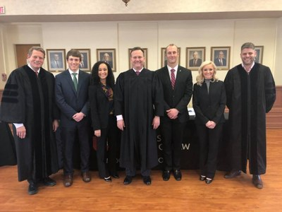 March 2018 1L oral advocacy competition students and judges