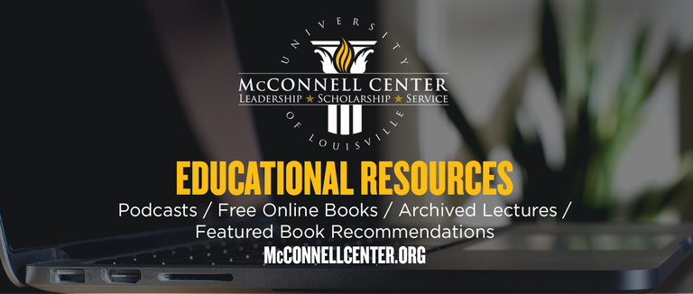 graphic advertising McConnell Center multimedia resources