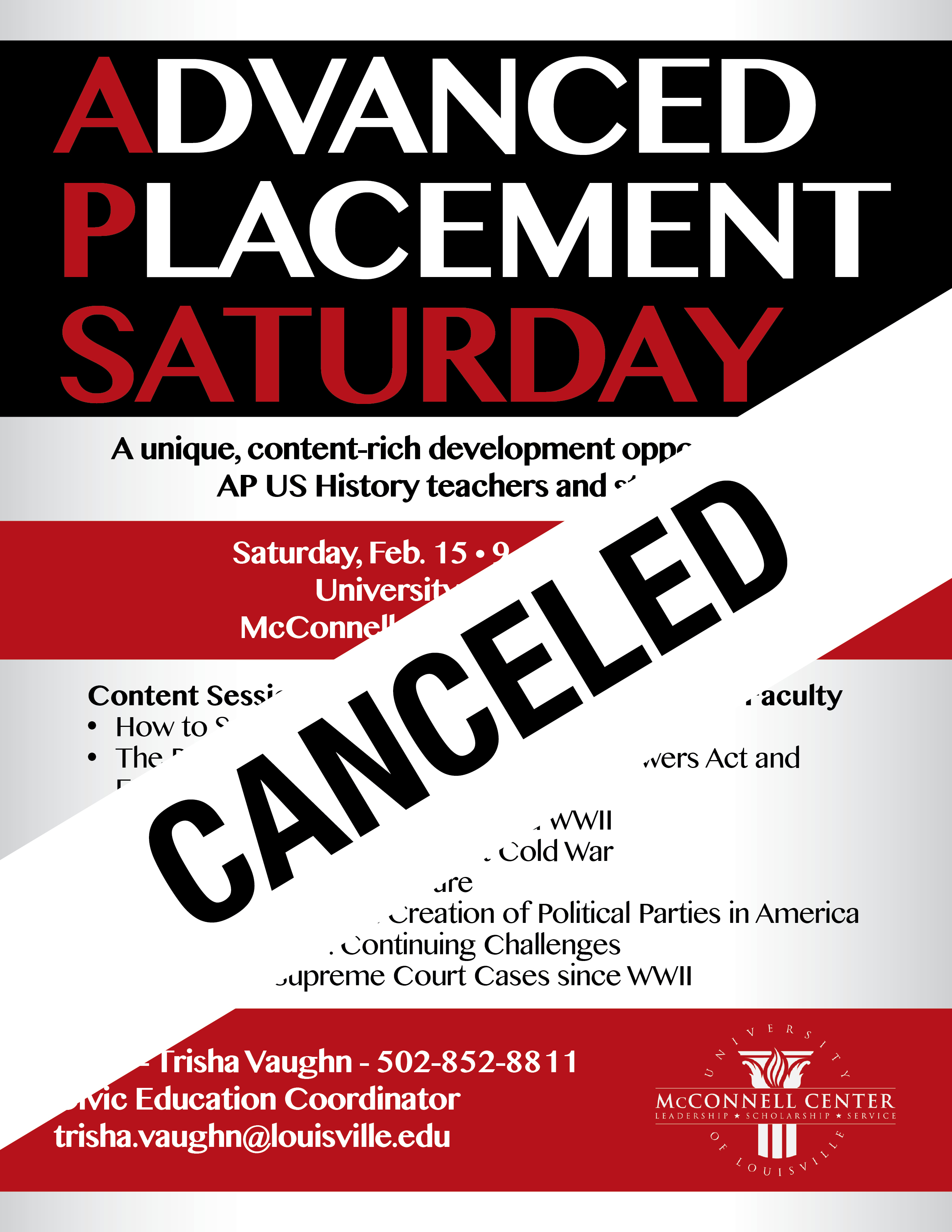 'AP Saturday' canceled 2/15 due to inclement weather