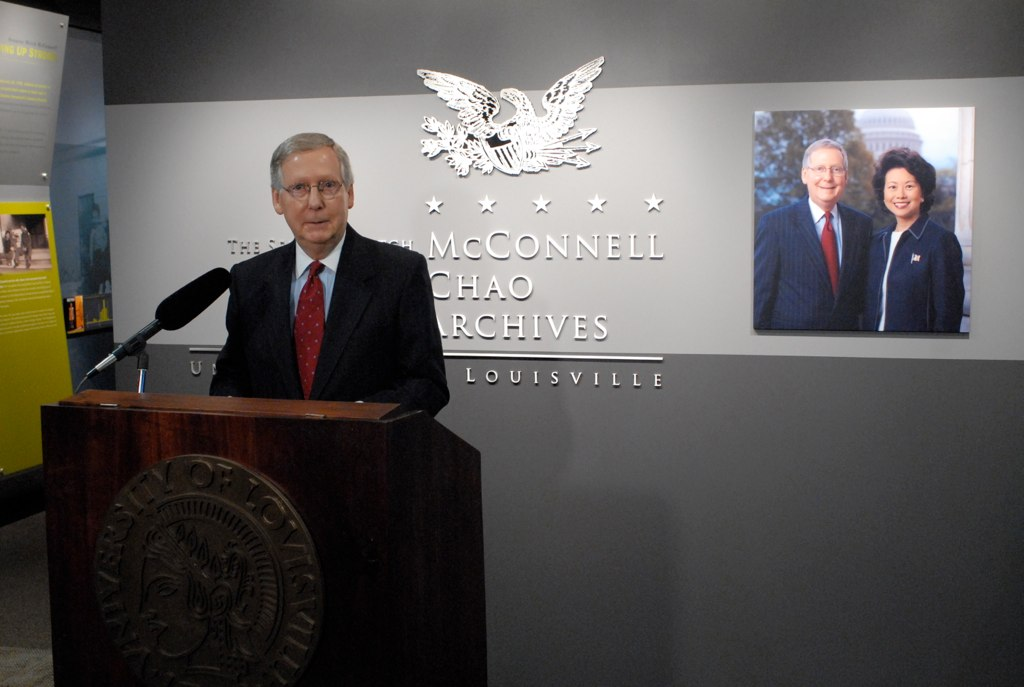 Memorabilia, civics lessons from McConnell's life, career on display in archives