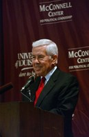Center remembers Sen. Richard Lugar, former guest speaker