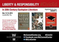 CIVICS: Professional development conference on 20th Century dystopian literature