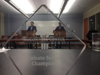 Haque named McConnell Center 'Debate Series Champion'
