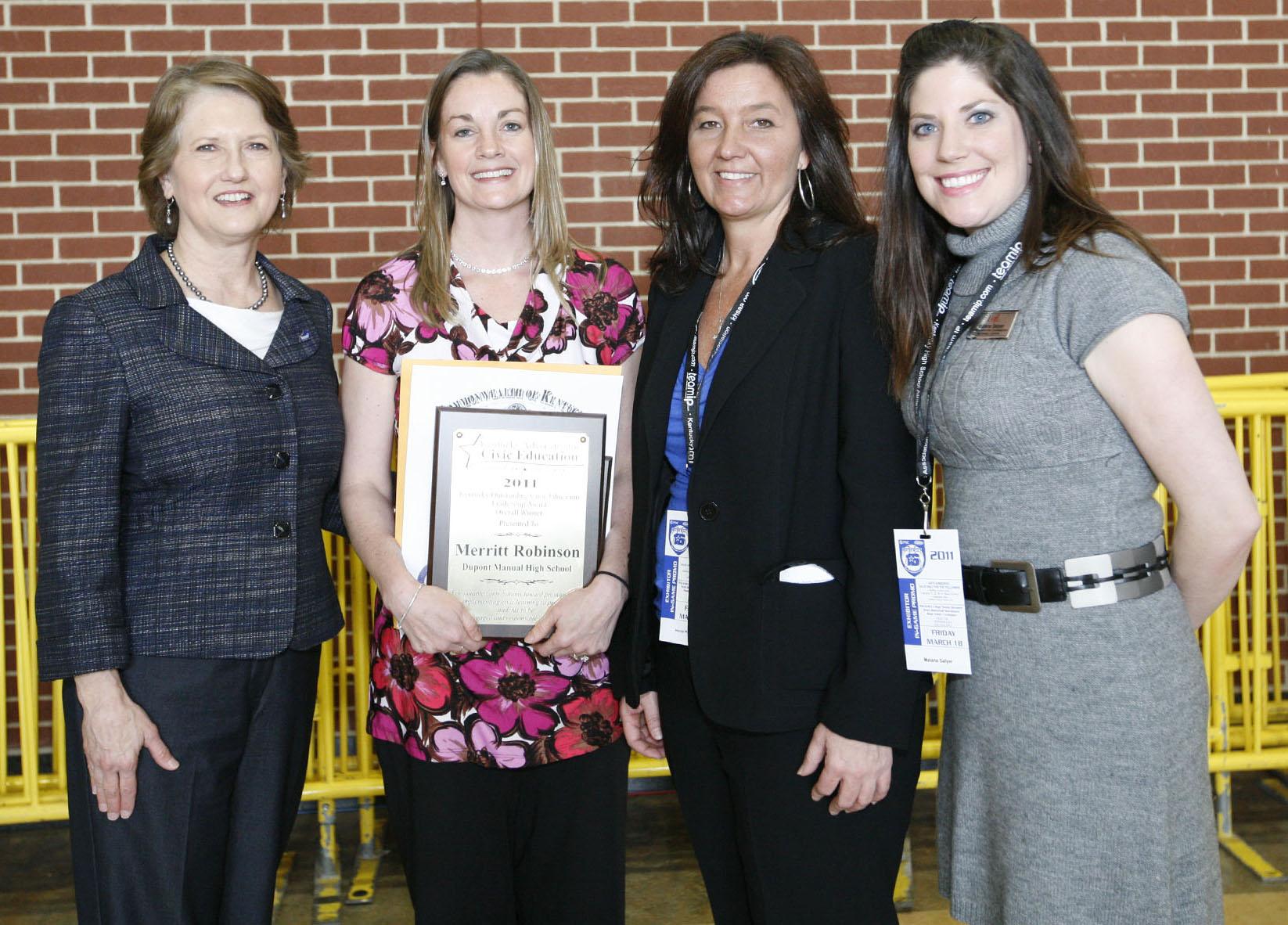 McConnell Center co-sponsors 'Outstanding Civic Education Leadership Award'