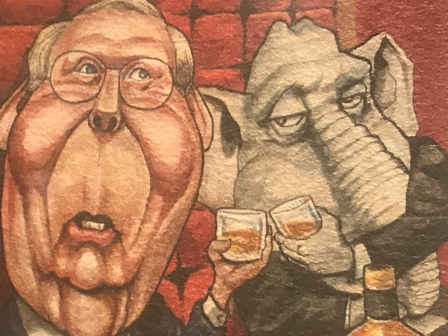 New exhibit features timeline, spoofs of Senator McConnell's political career