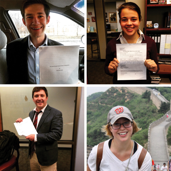 Scholars complete honors theses