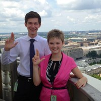 Southard, Waters escort National Champions in DC