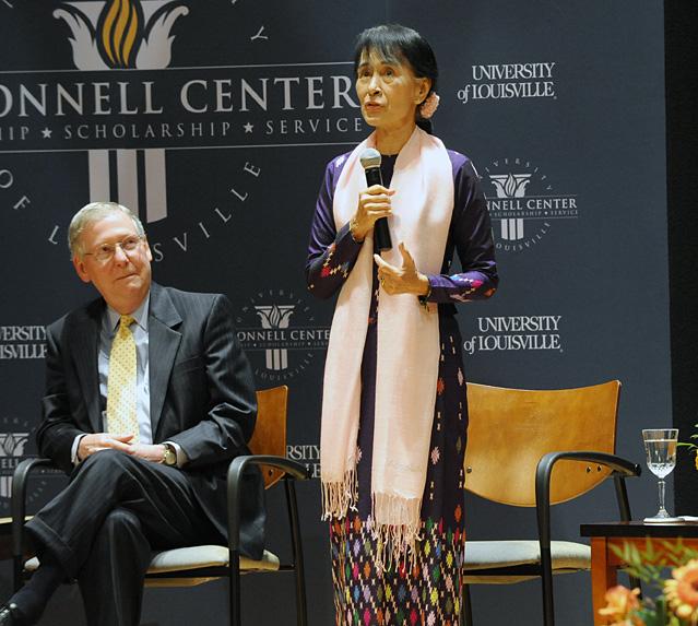 Suu Kyi speaks about freedom, democracy at UofL