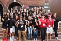 Three Scholars help welcome new students during summer orientation