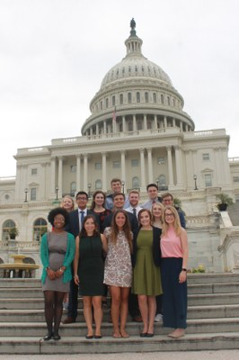 McConnell Scholars in front of the U.S. Capitol