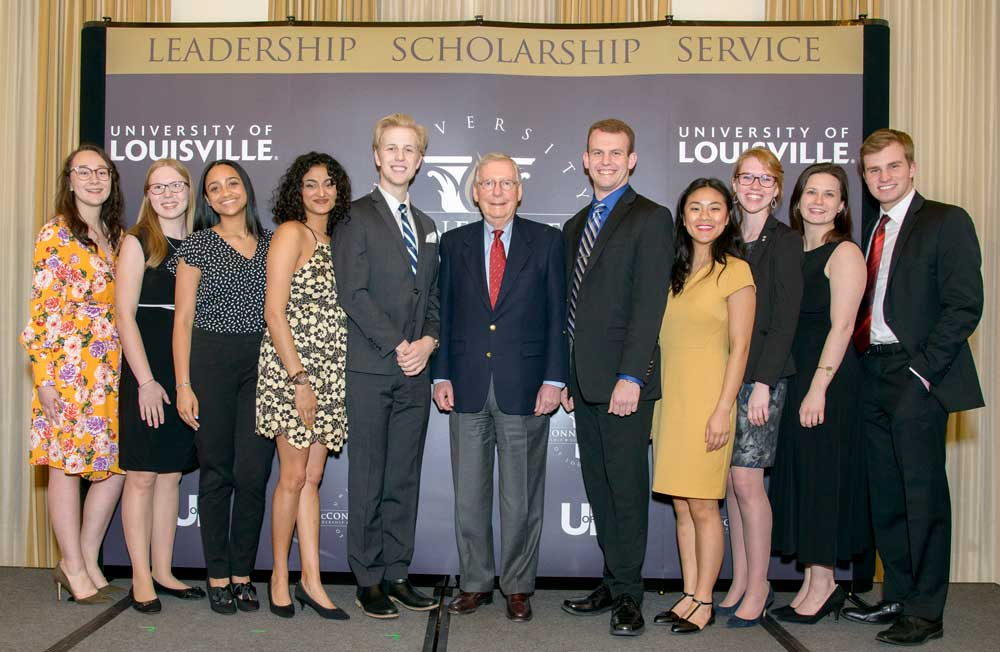 Class of 2019 with Sen. Mitch McConnell
