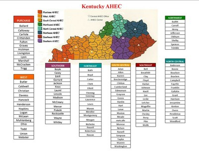 AHEC Counties and Map