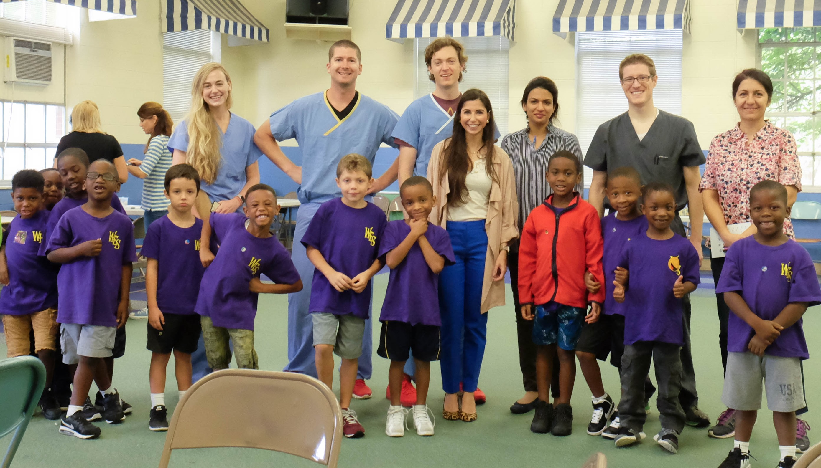 Lions Eye Center staff and students at West End School