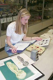 Student in embryology course