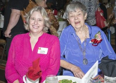 Lucille Leggett & Mayor Fischer