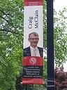 McClain banner at Belknap