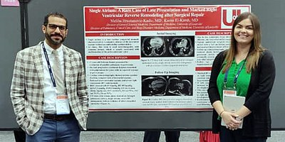 Drs. El-Kersh and Hrustanovic-Kadic with poster