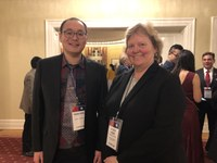 UofL graduate student in pharmacology and toxicology PhD program attends reception at Governor's mansion