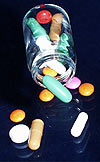Photograph of bottle of pills
