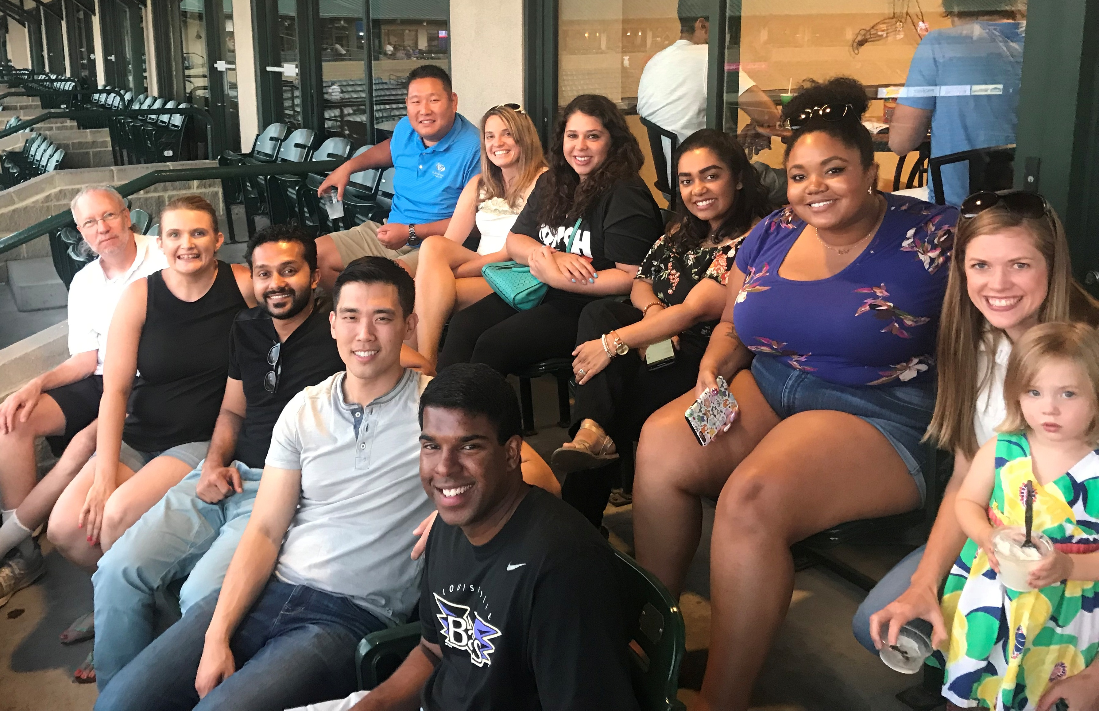 Residents at a Bats GAme
