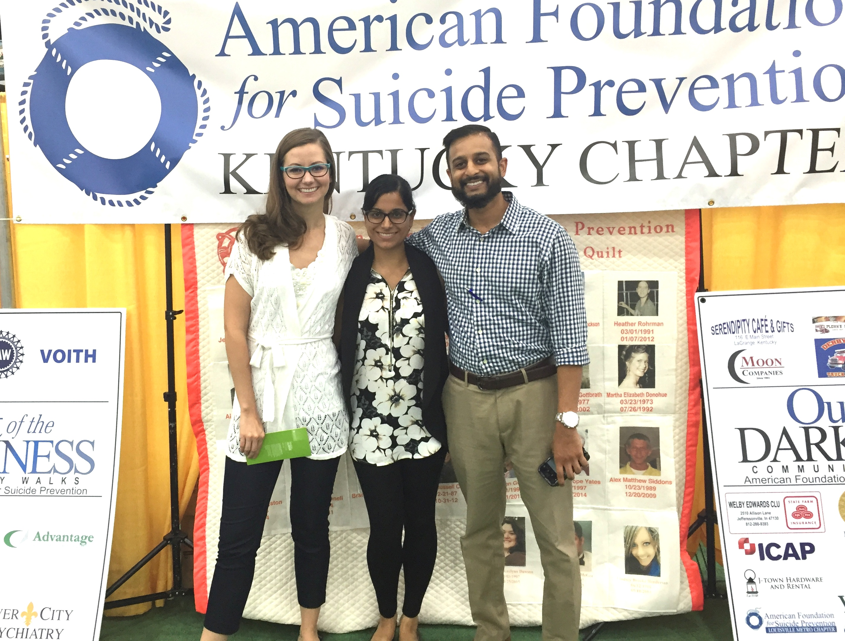 PGY-3 residents at Suicide Prevention Booth