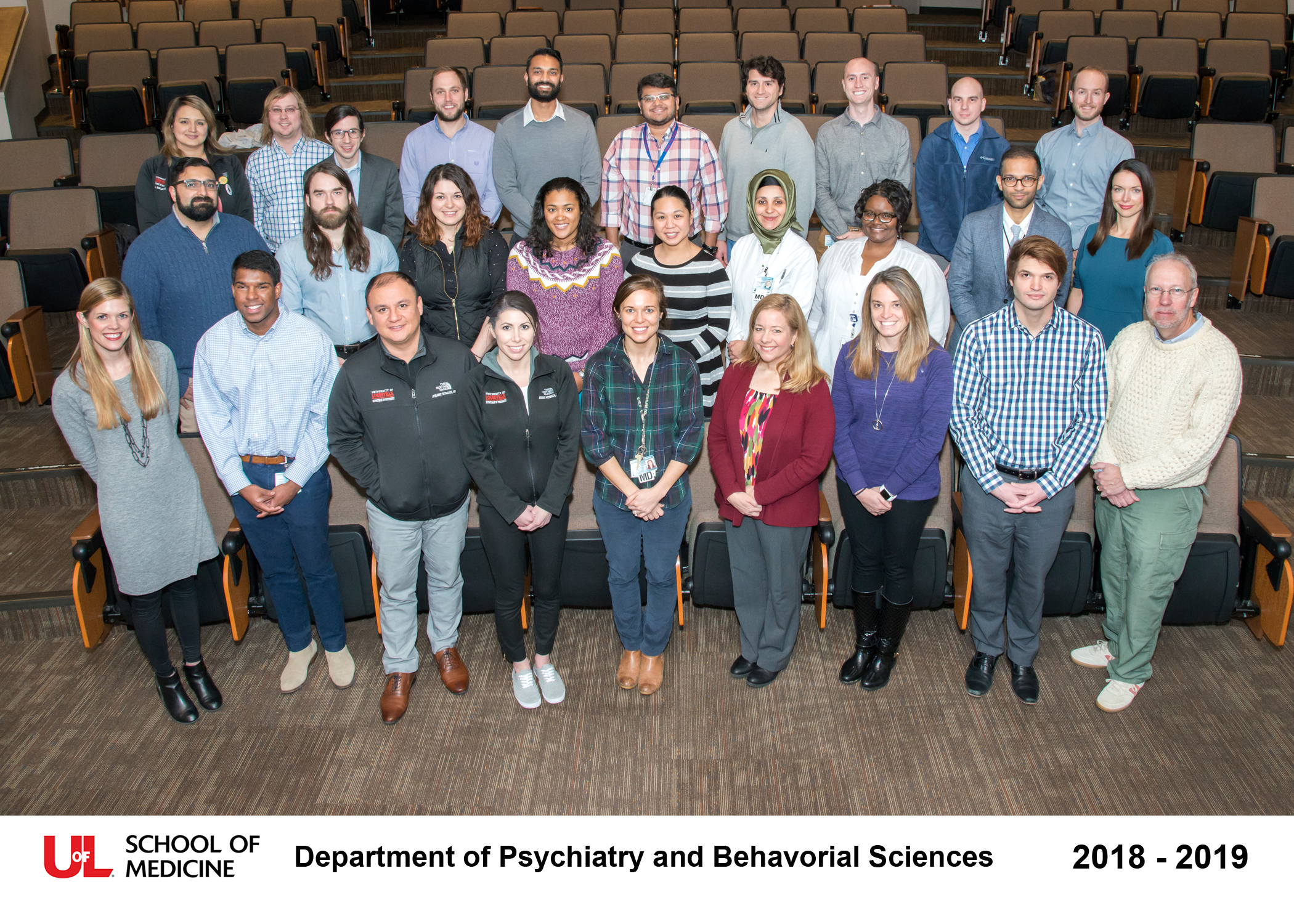 Group picture of the 2018-2019 residents