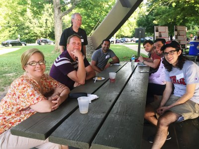 department residents and guests at picnic