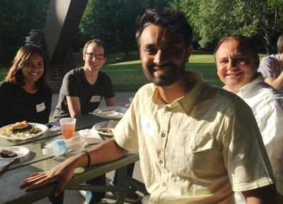 Residents at picnic