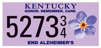 Kentucky offers specialty license plate supporting Alzheimer's Association
