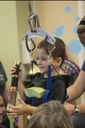 Spinal cord injury patient's foundation sponsors Crawford's Kid for therapy visit