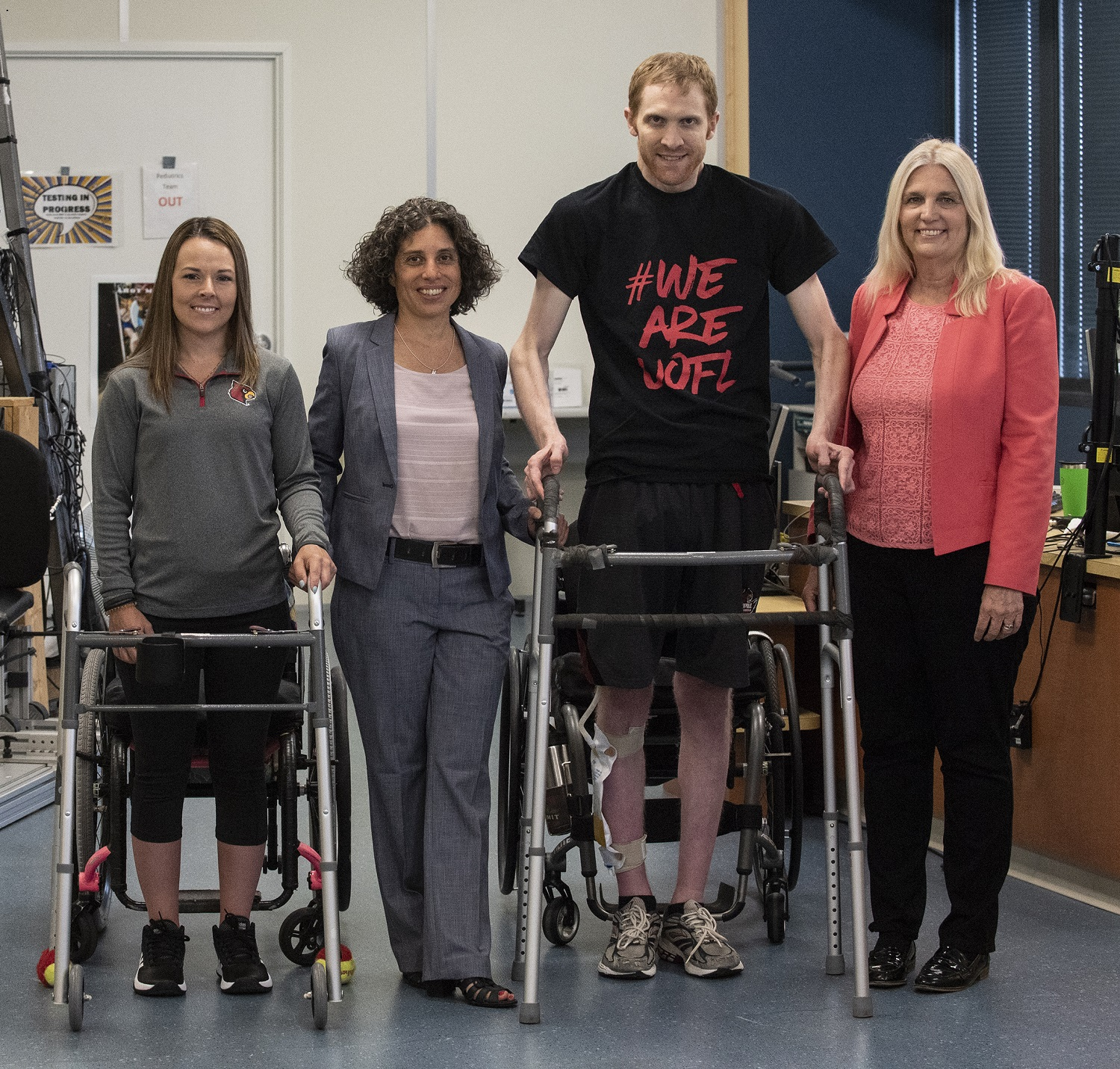 Technology, along with therapy, helps individuals with chronic spinal cord injuries voluntarily take steps