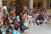 Medical residents' toy drive collects nearly 900 gifts for local kids