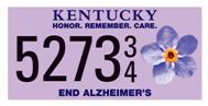 "UofL provides funding for ""End Alz"" Alzheimer's awareness license plate effort"